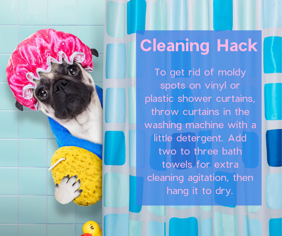 Cleaning Hack - Cleaning shower curtains